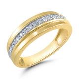 Luxo premium de alta qualidade banhado a ouro Crystal anel de diamantes Suite Anel de casamento