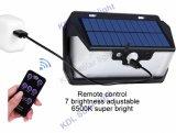 3 PIR +Motion+CDS 밤 센서 USB 비용을 부과 포트 60 LED 5 최빈값 원격 제어 태양 LED 램프 적외선 PIR를 가진 측면광 55 LED 원격 제어 태양 빛