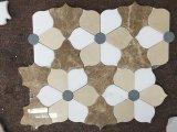 혼합 대리석 꽃 디자인 물 분출 커트 모자이크 타일