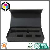 Eingehängter Kappen-Schwarz-Farben-Papppapierverpackenkasten mit Einlage