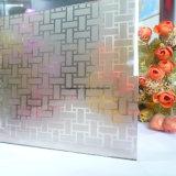4 mm a 6 mm del vidrio esmerilado, vidrio decorativo, cóncavo de cristal para la puerta
