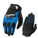 Перчатки мотоцикла голубого горячего сбывания вездеходные участвуя в гонке (MAG58)