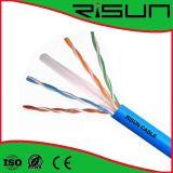 Cable de la red de cable del LAN de la alta calidad con el CE RoHS ISO9001
