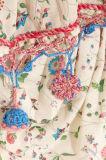 Фабрика 2017 напечатанная Вязать крючком-Уравновешенная платьев женщин Chifion Хлопк-Маркизета макси