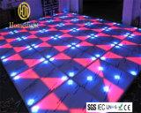LEIDEN DMX512 van de Kleur van DJ van de Disco van de Club van de nacht Lichte Witte Acryl RGB Draagbare Interactieve Dance Floor voor Verkoop