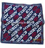 OEMの農産物はロゴによって印刷された昇進の綿のバンダナのヘッドスカーフをカスタマイズした