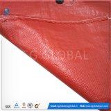 Durável 50kg impresso saco de tecido PP vermelho