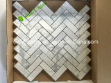 Het nieuwe Witte Marmeren Mozaïek Calacatta van het Ontwerp in Nieuwe Vorm met zeer Concurrerende Prijzen