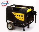 generador silencioso de la gasolina de la venta de la fábrica 2kw-6kw con las manetas y las ruedas