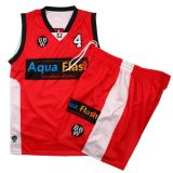 Healong Wholesales umschaltbares Polyester-Gewebe Basketball-Uniformen