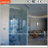 ホームおよびホテルの装飾、壁および家具のためのSGCC/Ce&CCC&ISOの証明書が付いているファブリックまたは革中間膜が付いている6mm-24mmの安全薄板にされたガラス