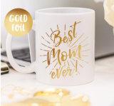 Kundenspezifischer Goldfolien-keramischer Cup-Becher/Kaffeetassen für Förderung