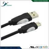 L'USB tapent le câble de transfère des données de C avec la tête duelle de PVC de couleur