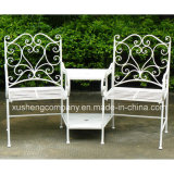 Tabela e cadeiras do alumínio de molde do jardim da impressão