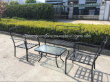 Meubilair van het Staal van de Tuin Aluminum+ van Compitive het Openlucht7PCS door Table+Chairs