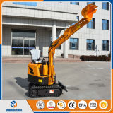 Micro zappatore cinese 800kg mini escavatore del cingolo da 0.8 tonnellate