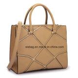 方法中型の標準的な学生かばんの女性のハンドバッグのスプライスのブリーフケースのショルダー・バッグ
