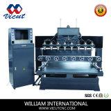 Машина маршрутизатора CNC Engraver головок CNC плоско роторная Multi