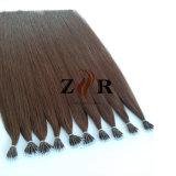 """12 """"ブラウンカラーブラジルの毛のNanoリングの人間のRemyの毛の拡張"""