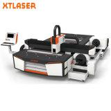 L'acier inoxydable de machines de découpage de feuille de laser de fibre de la Chine/en métal de plaques/aluminium/fer/cuivre/carbone