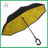 [هيغقوليتي] [ك] شكل مقبض يطوي [دووبل لر] عكس يعكس مظلة