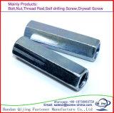 Longue noix Hex noire et galvanisée en acier de haute résistance DIN6334