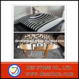 Fregaderos de mármol del cuarto de baño del mosaico y del pedestal