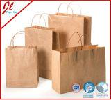 Milieuvriendelijke Bruine het Winkelen van de Bevordering van de Carrier van het Handvat van het Document van Kraftpapier Zak