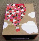 Sacs en papier heureux faits sur commande de vacances d'amour de scintillement de sac de cadeau de papier d'imprimerie du jour de Valentine