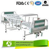 Duas funções Manual barata cama hospitalar com rodízios