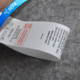 La impresión personalizada de manchar la ropa de etiqueta para