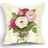 Красивую площадь Hydrangea Дизайн ткань подушка с заполнением