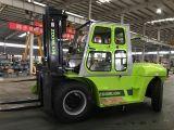 Triplex Höhe des Mast-6m 10 Tonnen-Dieselgabelstapler mit Kabine