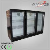 Puerta de oscilación tres bajo el refrigerador de la botella de la barra (DBQ-300LO2)