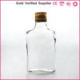 Frasco de vidro de 200 ml de licor de vinho com tampa de alumínio