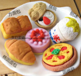 Promotion 3D Cake Eraser Food Shape Eraser