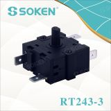 Commutatore rotante 16A 250V Rt243-3 multi posizione del riscaldatore elettrico di Soken