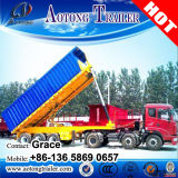 O solo contendo resíduos que transportam veículos a reboque da caixa basculante, Caminhão Basculante Reboque