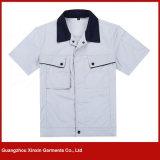 Vestuários curtos baratos por atacado do trabalho da luva uniformes para o verão (W157)
