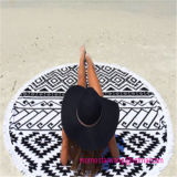 De in het groot Ronde Handdoek van het Strand van de Cirkel met de Versieringen van de Leeswijzer