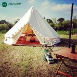 3m 4m 6m 5m Baumwollsegeltuch-Rundzelt-wasserdichte Familien-im Freien kampierendes Zelt