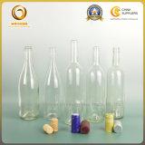 Оптовый круг 750ml освобождает изготовление стеклянной бутылки в Китае (058)