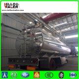 Do eixo 42000L da liga de alumínio do combustível do petroleiro reboque dobro Semi