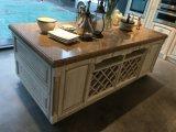 In het groot Modulaire Stevige Houten die Keukenkast voor de Decoratie van de Keuken wordt geplaatst