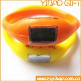 Silicone pulseira relógio com impressão do logotipo (YB-SW-66)