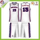 건조한 적합 염료 승화 스포츠 제복 최고 농구 Jerseys 디자인