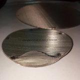 플라스틱 입자 기계를 위한 소결된 스테인리스 철망사 필터 디스크