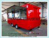 Bon chariot mobile respectueux de l'environnement de nourriture de remorque de hot-dog de rue de la Chine