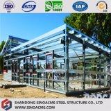 Estructura de acero de la luz de prefabricados Sinoacme Retail arrojar