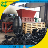 Desfibradora del eje doble/máquina plásticas de la trituradora para la basura inútil/municipal de madera/del neumático/de la cocina